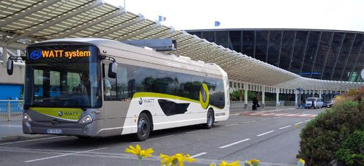 Bus « Watt » testé à l'aéroport de Nice