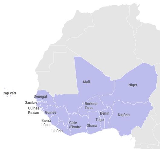 Pays d'Afrique de l'Ouest