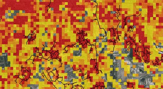 Carte réseaux de chaleur Ile de France