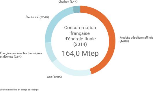 Consommation française d'énergie finale en 2014