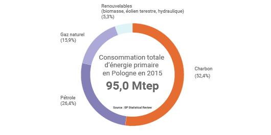 Mix énergétique de la Pologne en 2015