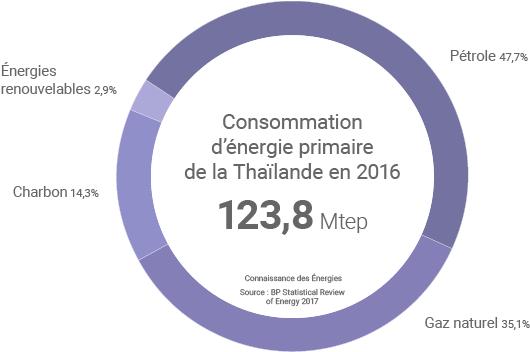 Consommation d'énergie de la Thailande