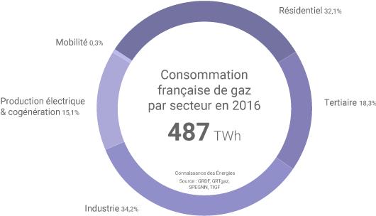 consommation de gaz en France