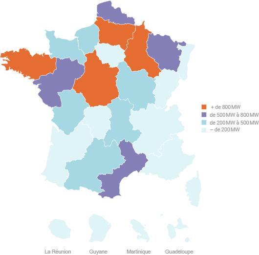 eoliennes en France : 10 000 MW