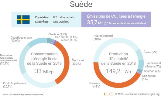 Au total, la biomasse satisfait près d'un tiers des besoins énergétiques de la Suède (consommation directe, dans les réseaux de chaleur et sous forme d'électricité). (©Connaissance des Énergies)