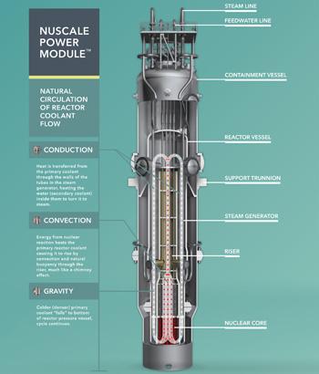 Design du réacteur modulaire de 50 MW de NuScale Power)