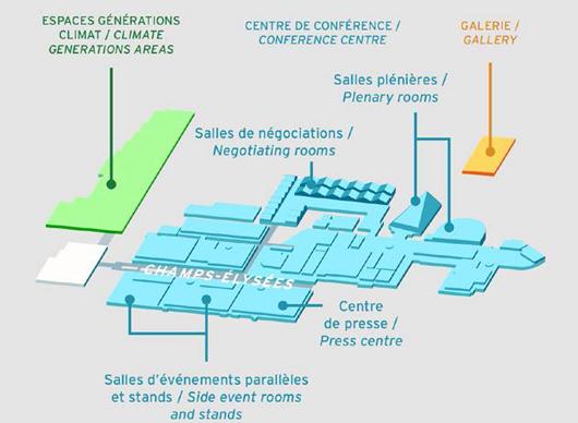Plan du site de la COP21