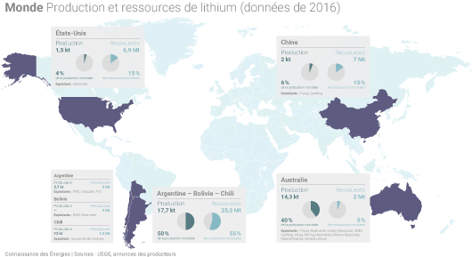 Carte du lithium
