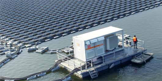 Centrale photovoltaïque flottante