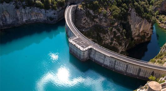 Barrage hydraulique dans les Gorges du Verdon
