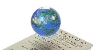 Le globe terrestre en lévitation