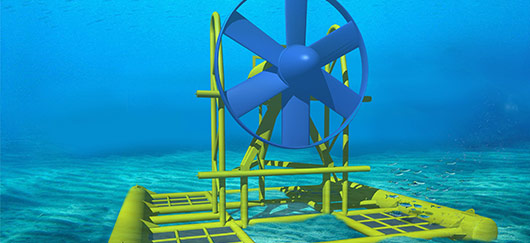 Hydrolienne énergies marines