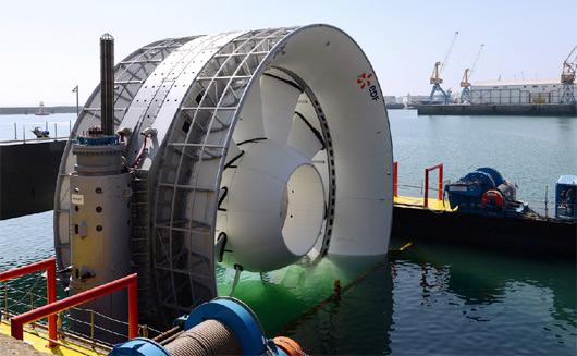 Hydrolienne EDF Brest