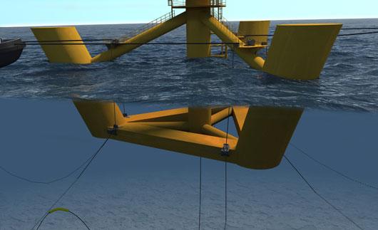 Fondations éolienne flottante