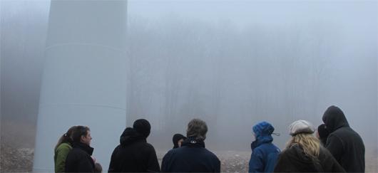 Journées de l'énergie visite éolienne