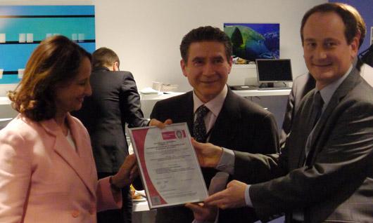 Remise de la norme ISO 20121 à la COP21