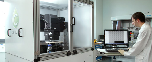 Imprimante de tests actuellement utilisée pour constituer des modules OPV (©DisaSolar)