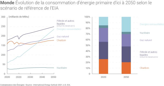 Évolution de la consommation mondiale d'énergie
