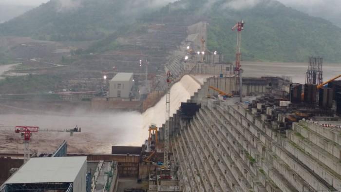 Barrage de Grande Renaissance en juillet 2020