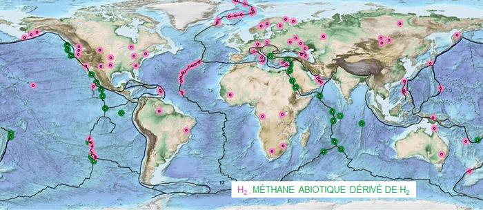 Carte mondiale de l'hydrogène naturel