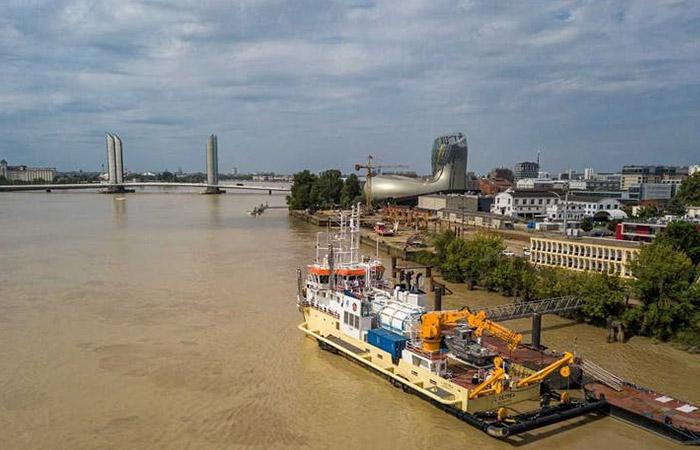 Drague GNL Port de Bordeaux
