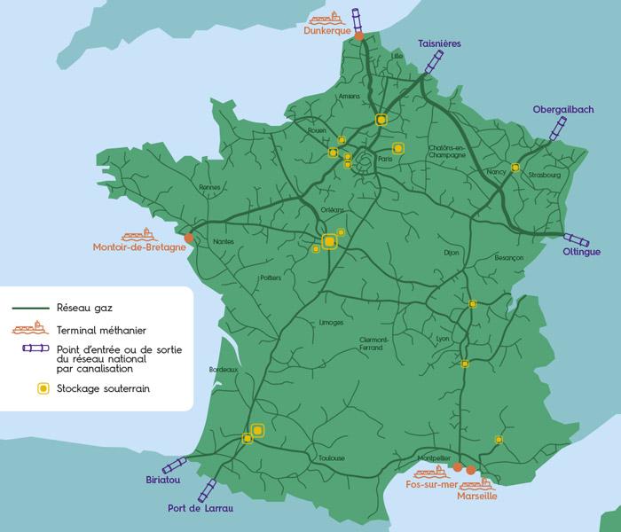 Réseau gazier de la France