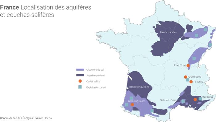 Aquifères et couches salifères en France
