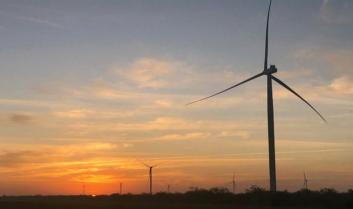 Parc éolien au Texas mis en service en 2020