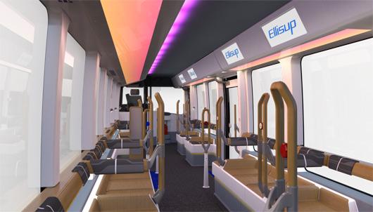 Intérieur du bus Ellisup (©Iveco)