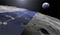 Le projet Luna Ring vise à produire de l'électricité sur la Lune 24 heures sur 24 (©Shimizu)