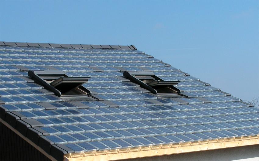 tuiles cellules photovolta ques l 39 nergie solaire pour la toiture. Black Bedroom Furniture Sets. Home Design Ideas
