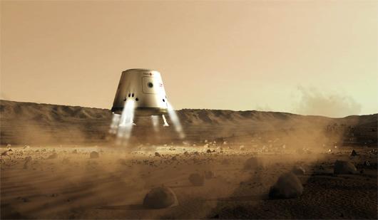 Mars One évalue à près de 6 milliards de dollars le coût d'installation des 4 premiers pionniers sur Mars (©Mars One).
