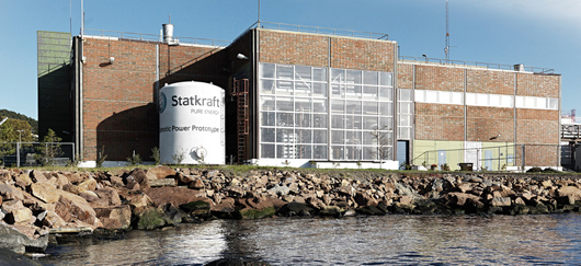 Prototype de centrale osmotique installé à Tofte (©Statkraft)