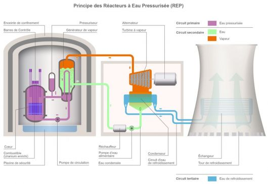 schéma réacteur nucléaire eau pressurisée