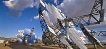 Paraboles solaires installées à Albuquerque, Australie