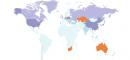 Consommation de charbon dans le monde - carte