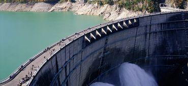 Barrage hydraulique électricité