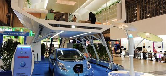Nissan d voile sa maison intelligente mobile et autonome en nergie - Rendre sa maison autonome ...